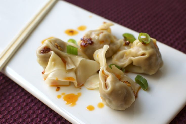 Shrimp wontons | Ethnic food | Pinterest