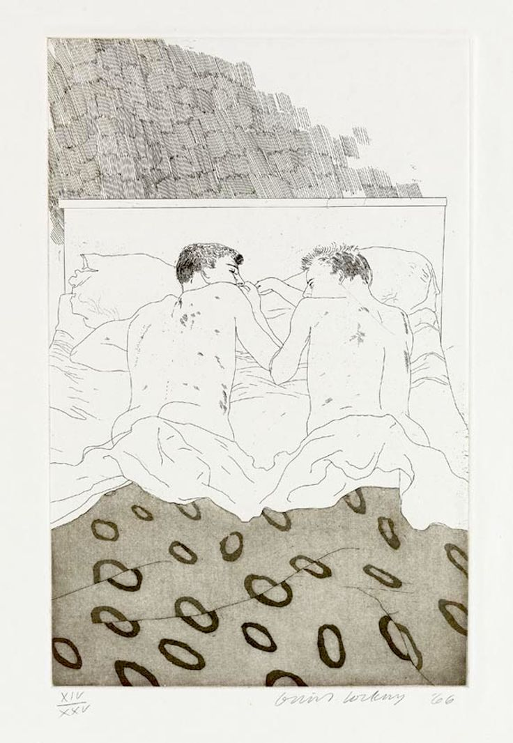 David Hockney (from the Cavafy Etchings)