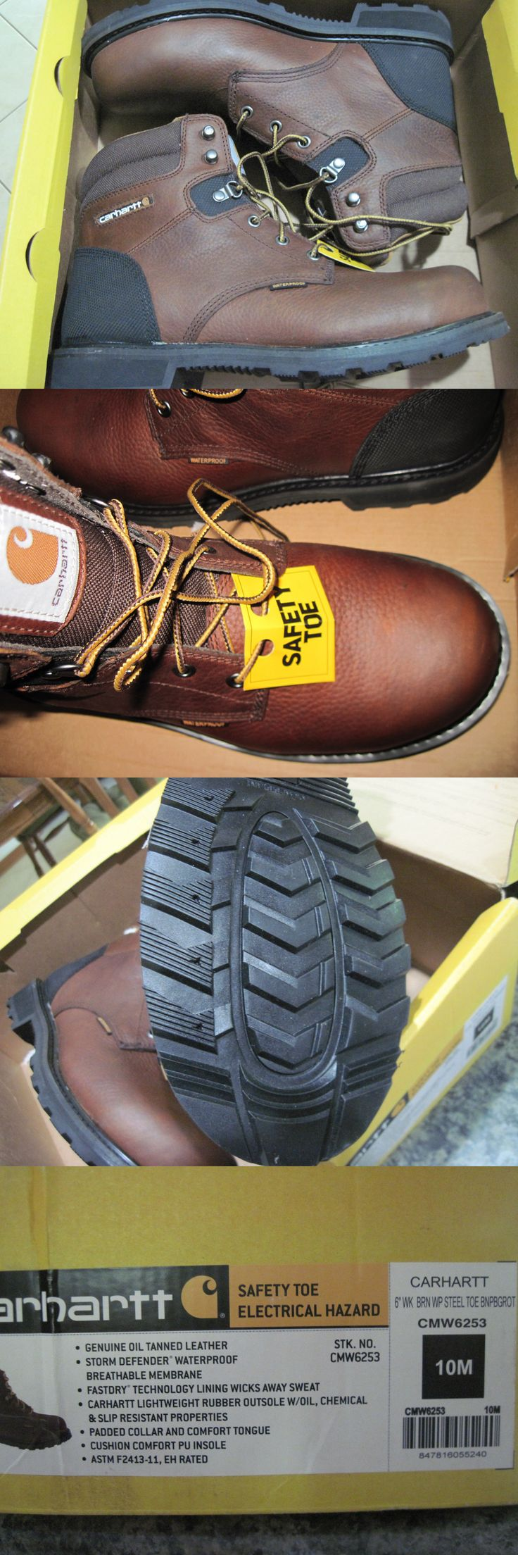 Occupational 11501: Carhartt Waterproof Work Boots Cmw6253 6 Safety Toe Boot Size 10M New -> BUY IT NOW ONLY: $45 on eBay!