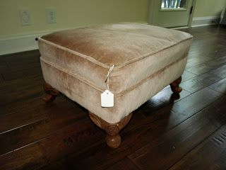 Slip-Covered Ottoman | Less Than Perfect Life of Bliss | home, diy, travel, parties, family, faith
