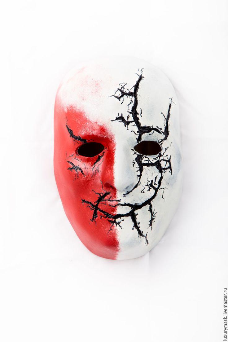 Купить Маска Пожирателя Смерти - белый, маска, карнавальная маска, хеллоуин, маскарад, helloween, mask