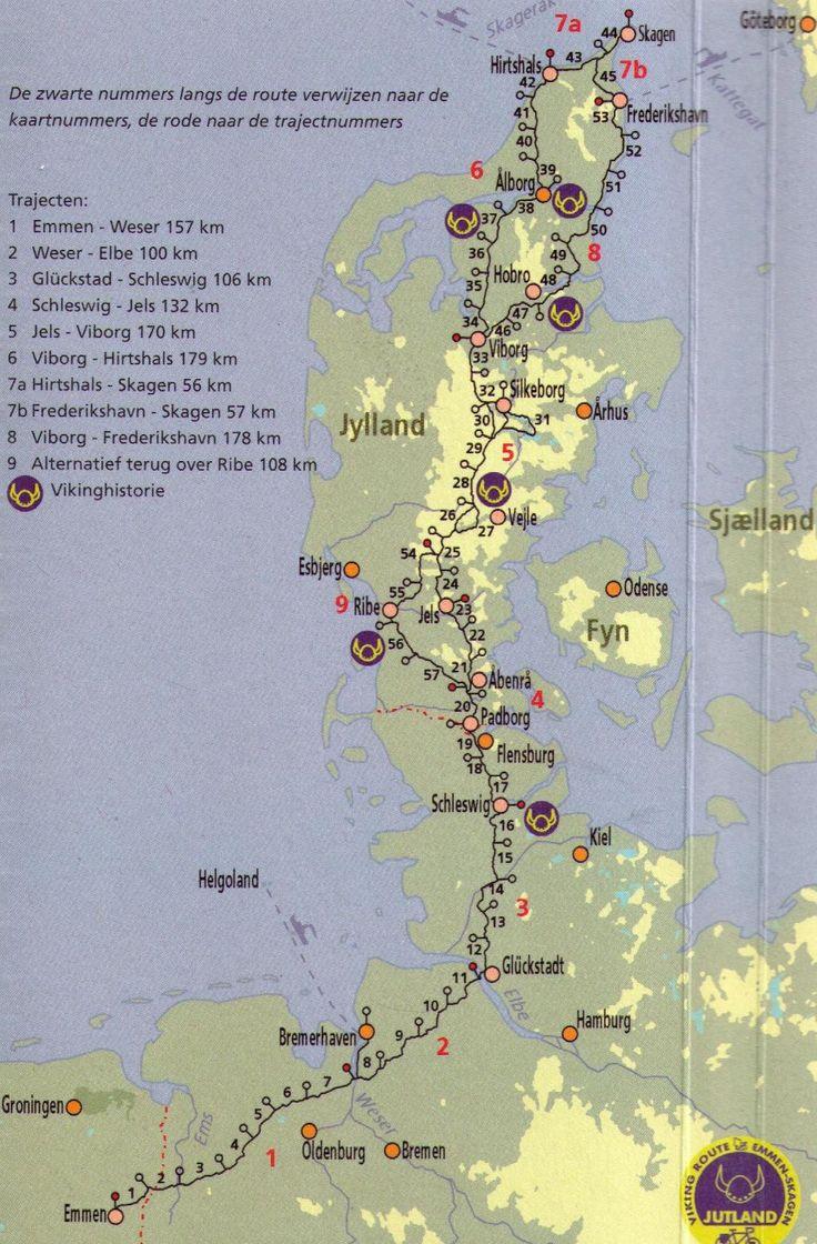 Jutland Fietsroute Touring BicyclesTravel MapsRoad 159 best