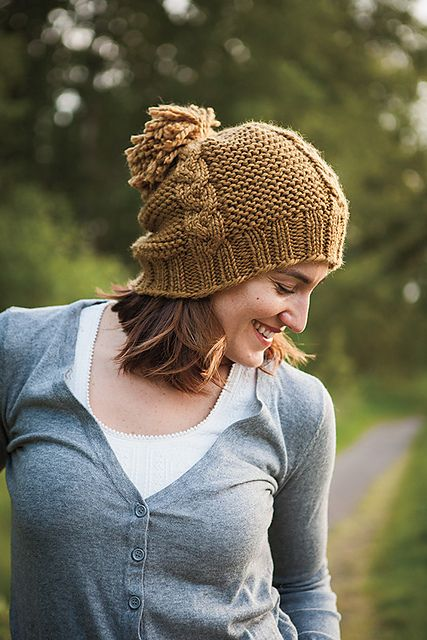 Ravelry: Afraid of Cables Hat pattern by Brenda Castiel