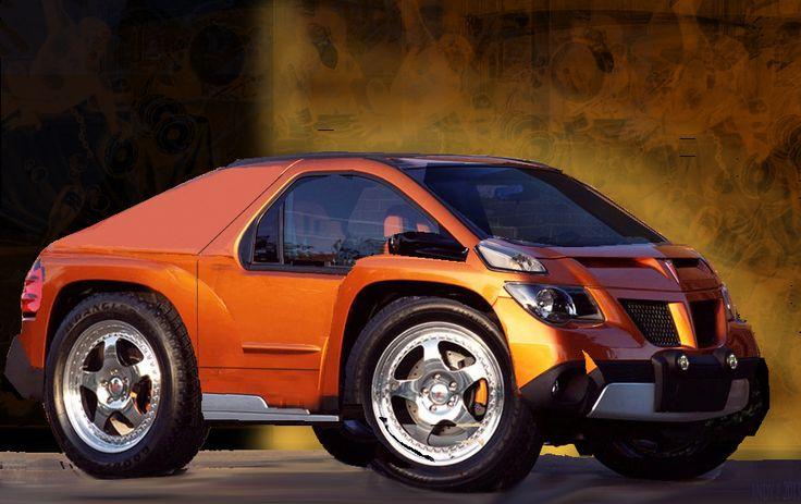 Pontiac Aztek City Car rough sketch