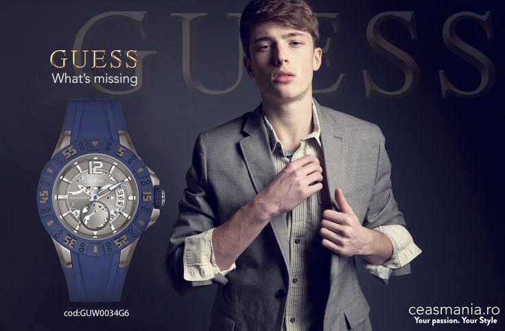 Fii elegant si casual in acelasi timp!  http://ceasmania.ro/ceasuri/2782-guess-guw0034g6.html