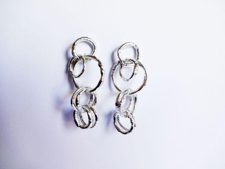 #handmade #earrings #in #silver #elegance #jewelry #fine #jewelry #circles  www.facebook.com/gioiellifenzl