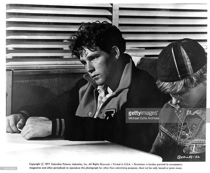 Timothy Bottoms at diner with retarded boy Sam Bottoms in a scene from the film 'The Last Picture Show', 1971.