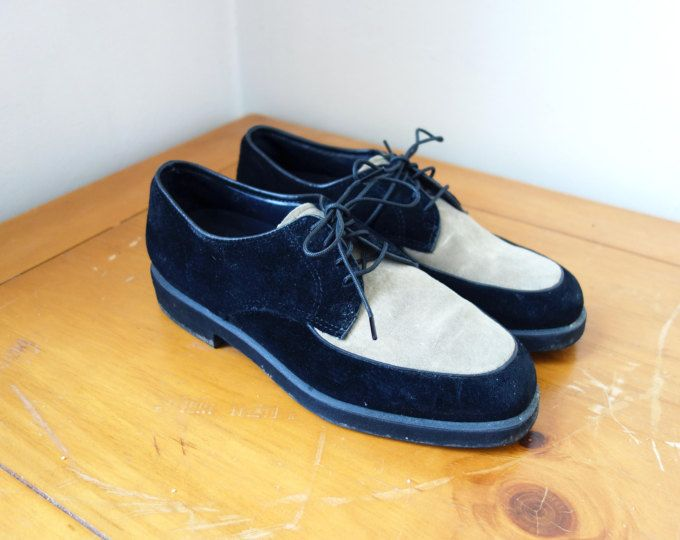 Vintage 90s Hush Puppies Shoes Suede 90s Shoes 90s Clothing
