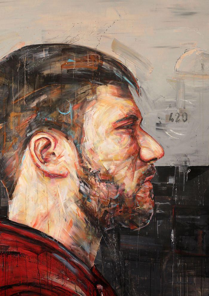 Pierre Chabiron, art, peinture, couleur, homme , humain cadrage,