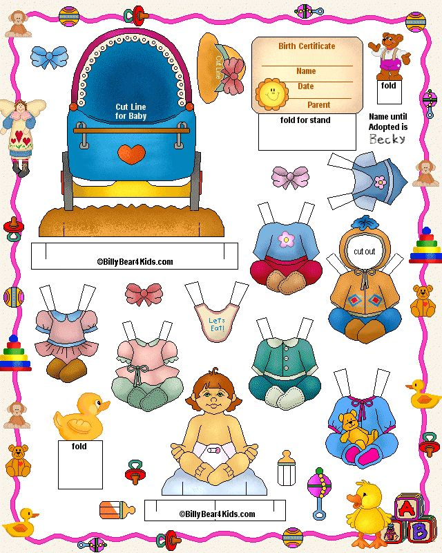 #Adopt a Baby PaperDoll  adopting a baby in the us