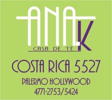 Esta casa de tè se llama Ana.K. Ofrece comidas dulces y saladas y ricas bebidas, ademàs de tè. Està ubicada en Costa Rica 5527-Palermo Hollywod.