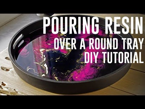 Decorative resin tray DIY + TUTO – YouTube