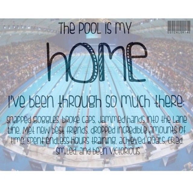 The pool is my home!
