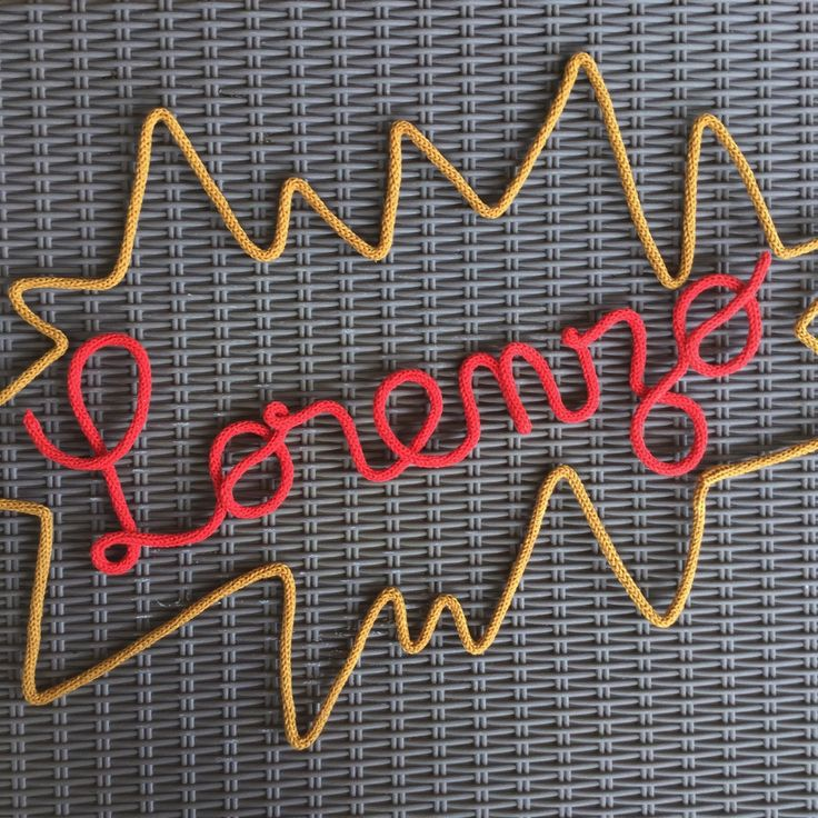 Pour un fan de Marvel ⚡️ Lorenzo ⚡️ Deco enfant / Prenom laine / Mot tricotin