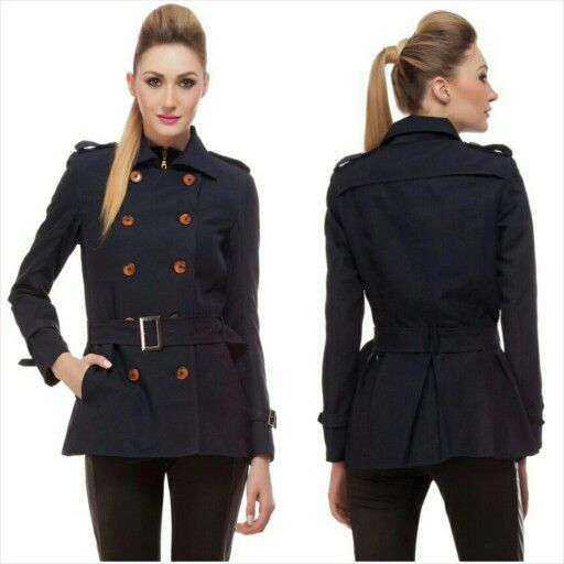Double breasted coat, waist belted, side pockets, best for winter, pre-winter, post- winter weather. suitable for both formal and casual occasions.