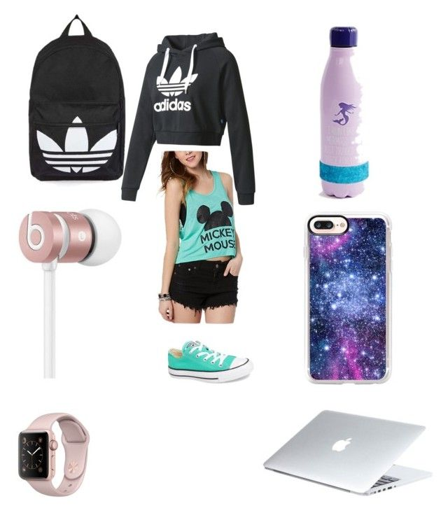 """""""First day of school"""" by kessama ❤ liked on Polyvore featuring Topshop, Converse, Beats by Dr. Dre, Casetify, adidas and Dyson"""