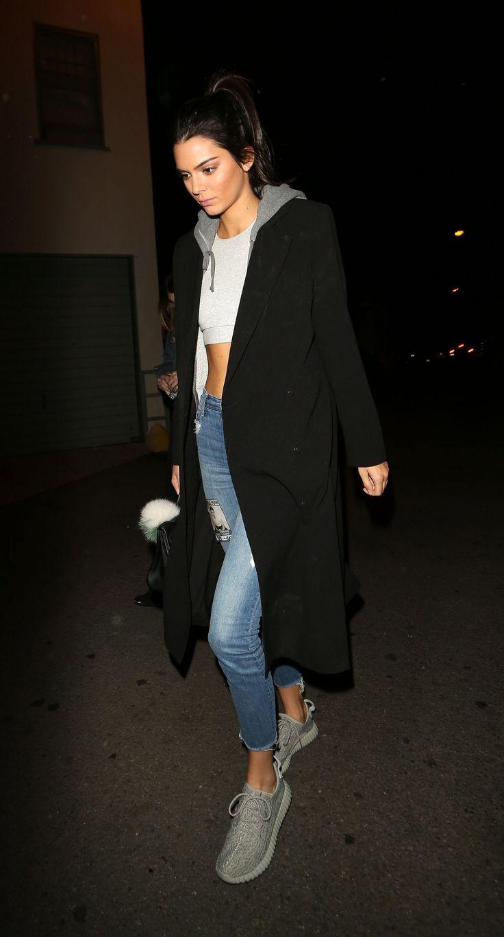 Kendall Jenner   sneakers   hoodie   street style                                                                                                                                                                                 More