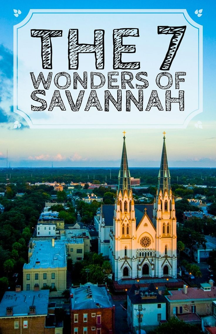 You might know the 7 Wonders of the World, but do you know the 7 Wonders of Savannah?