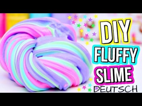 DIY FLUFFY SLIME! How To Make The BEST Slime! DEUTSCH - YouTube