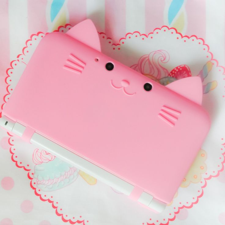 cat 3DS case- you can buy it here: http://www.ebay.com/itm/Cute-cat-Neko-Nyan-Nintendo-3DS-LL-XL-Silicon-Hard-Case-Cover-Pink-No-S1-/310836697682?pt=US_Video_Game_Cases_Bagshash=item485f4f9a52