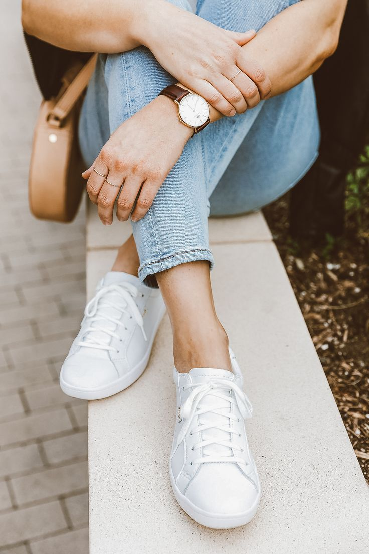 White Leather Keds Sneakers - Lydia Lewis