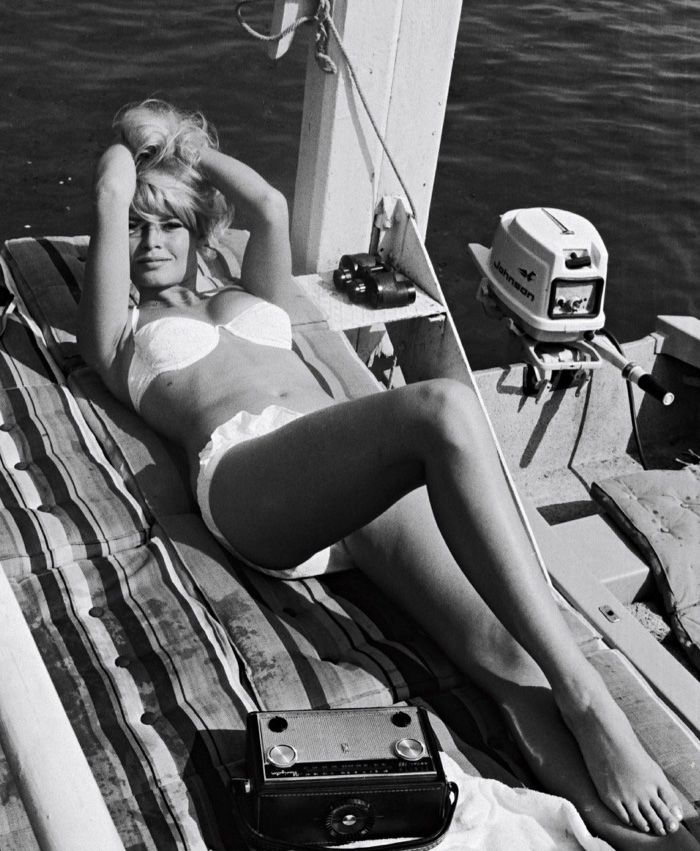 Brigitte Bardot's white bikini in A Very Private Affair