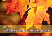 It's time to order your Fall Time Change Postcards for Realtors! Nov 2nd is only 6 weeks away!