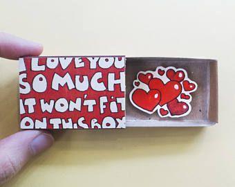 Carte d'anniversaire drôle / CatCard/i Love You So Much - il ne rentrera pas sur cette boîte/LV103
