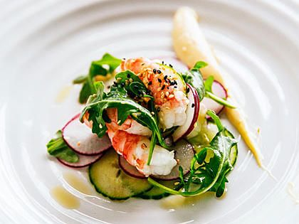 Spot Prawn Sesame Salad