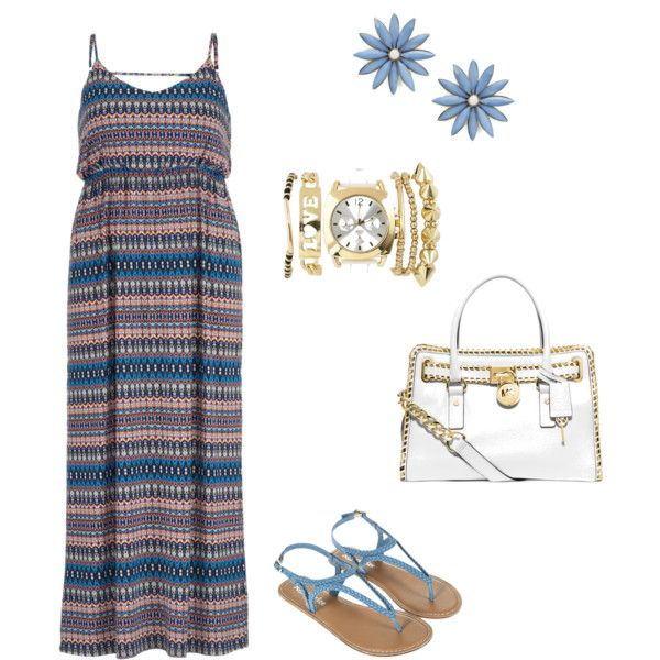 Spring Day by ndzalo on Polyvore featuring maurices, Monsoon, Michael Kors, R.J. Graziano and Charlotte Russe