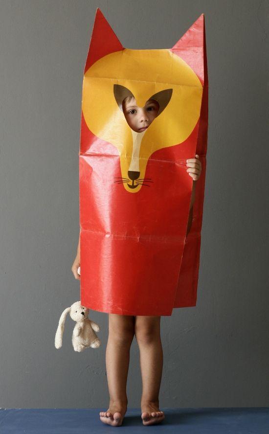 kid costume by fredun shapur via www.xo-inmyroom.com: Costumes, Shapur Fox, Paper Bags, Fox Costume, Kids, Foxes, Diy