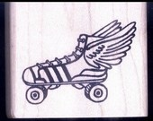 Roller derby rubber stamp. Someday you might receive a letter with this on it