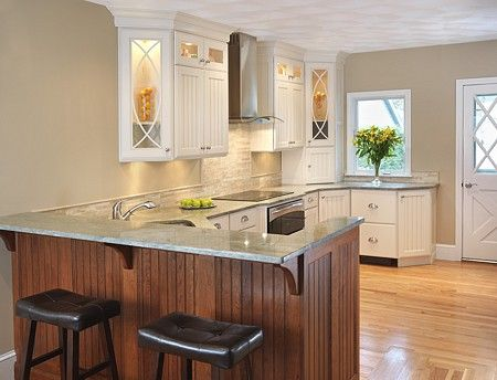 two tiered peninsula just like this! dream kitchen Pinterest ...