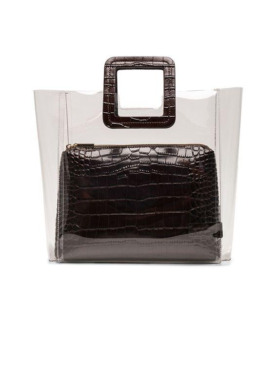 016dd7a9f8 Staud Shirley Bag in Brown Faux Croc