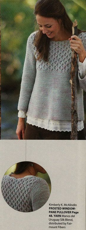 Frosted Window Pane Cable Crochet Sweater Pattern. More Great Looks Like This