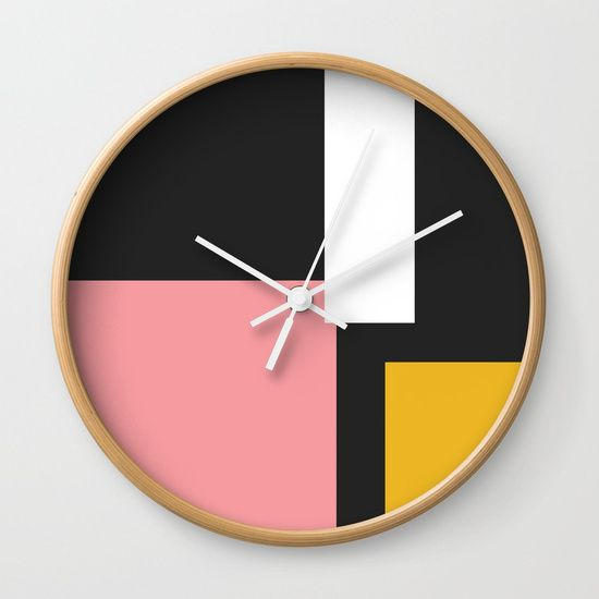 Buildings. Wall Clock by Bravely Optimistic | Society6