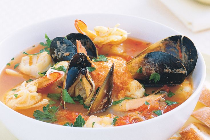 This healthy French-style seafood soup is tasty and refreshing too.