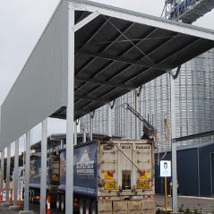 Open cover at grain receival depot.