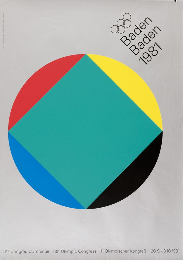 11th Olympic Congress ~ Baden Baden 1981 (Anton Stankowski)