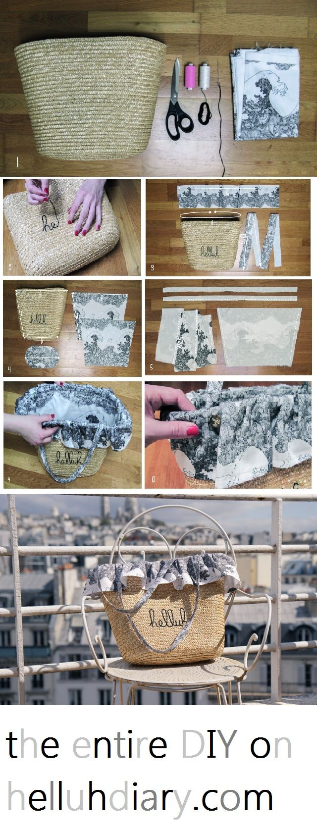 #DIY #beach #bag on http://helluhdiary.com