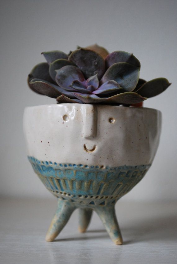 Small tripod bowl planter by AtelierStellaLondon on Etsy