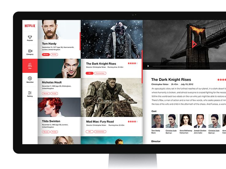 Netflix Service UI by K. Park
