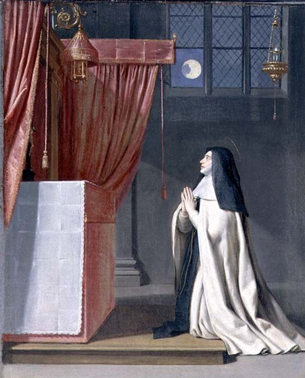The Vision of St. Juliana, by Philippe de Champaigne, ca. 1650.  The Institution of the Feast of Corpus Christi