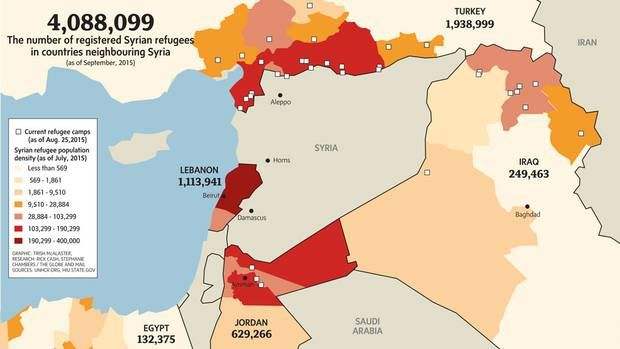 Four million more: Europe's crisis pales in comparison to Syria'sneighbours' - The Globe and Mail
