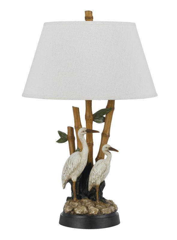 Cal Lighting BO-2607TB Stork 1 Light Table Lamp Tropical Lamps Table Lamps
