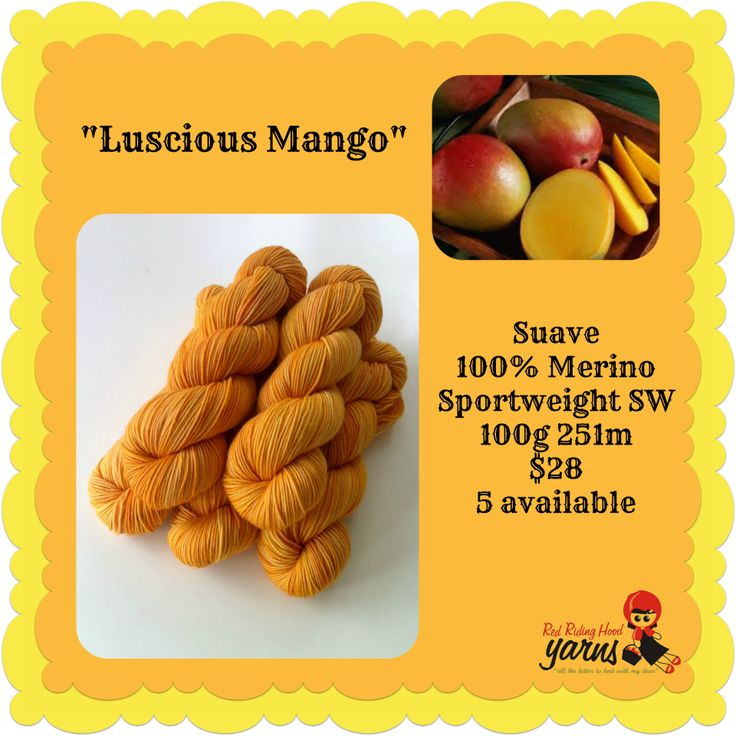 Luscious Mango - Summerfruits Stocking | Red Riding Hood Yarns