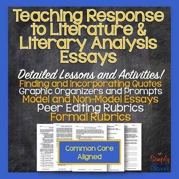 Elements of a response to literature essay