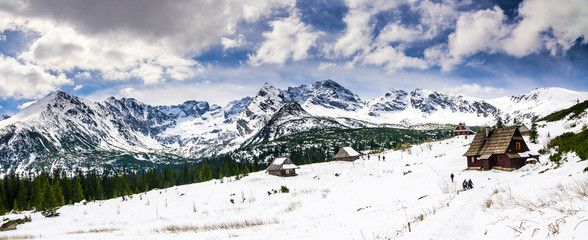 Hala Gasienicowa in Tatra Mountains, spring season