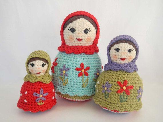 Amigurumi Russian Dolls : How to Crochet Dolls: Pattern for Amigurumi Matryoshka ...