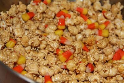 Catholic Cuisine: Candy Caramel Corn for All Hallows' Eve